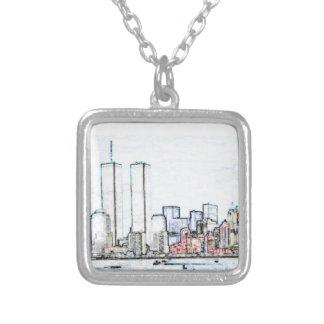 New York City con las torres gemelas Grimpola Personalizada