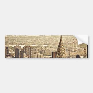 New York City - construcción de Chrysler Etiqueta De Parachoque