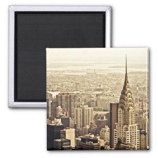New York City - construcción de Chrysler Imán De Nevera