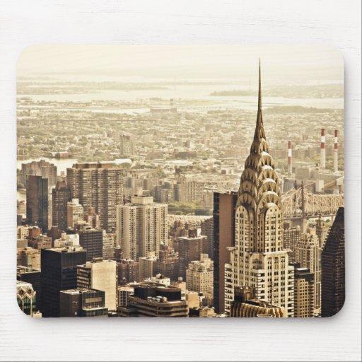 New York City - construcción de Chrysler Alfombrillas De Raton