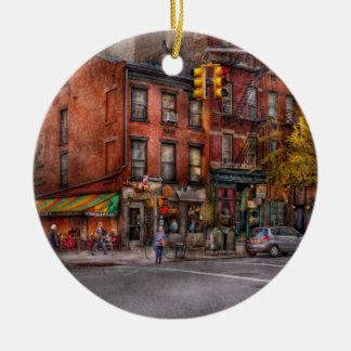 New York - City - Corner of One way & This way Ceramic Ornament