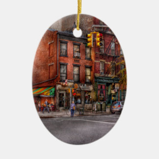 New york city corner of one way this way christmas - Ornament tapete weiay ...