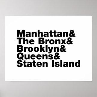 ~ New York City de cinco ciudades Póster