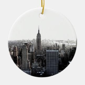 New York City Adorno Redondo De Cerámica