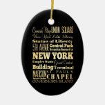 New York City del arte de la tipografía del Estado Ornamente De Reyes