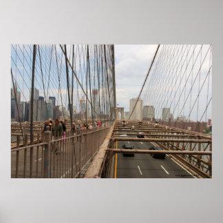 New York City del diseño del poster del puente de