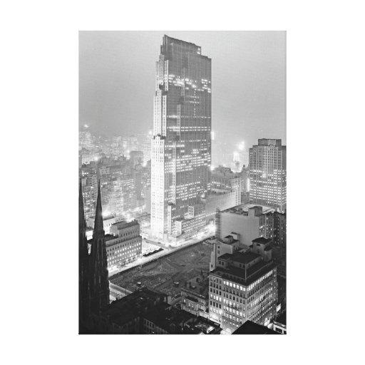 New York City del viejo club 1933 de la unión Lona Envuelta Para Galerias