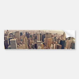 New York City desde arriba Etiqueta De Parachoque