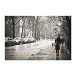 New York City - día lluvioso en Greenwich Village Lona Estirada Galerias