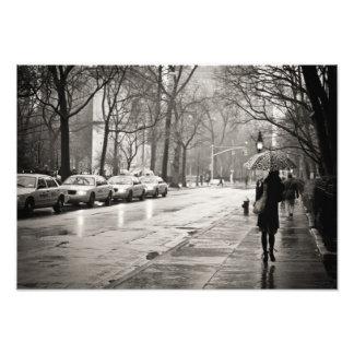 New York City - día lluvioso en Greenwich Village Fotografias