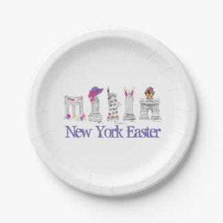 New York City Easter Basket Eggs Bunny NYC Plates