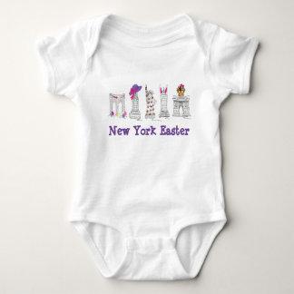 New York City Easter NYC Brooklyn Landmarks Baby Bodysuit