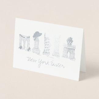 New York City Easter NYC Landmarks Buildings Foil Card