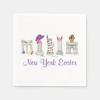 New York City Easter NYC Landmarks Napkins