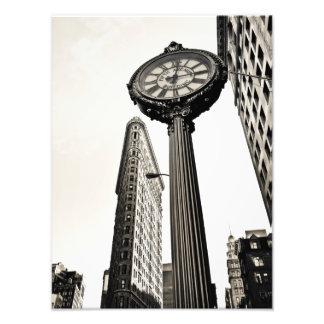 New York City - edificio y reloj de Flatiron Impresiones Fotograficas
