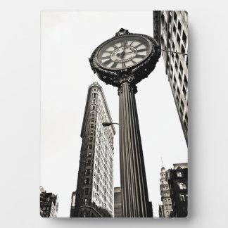 New York City - edificio y reloj de Flatiron Placas
