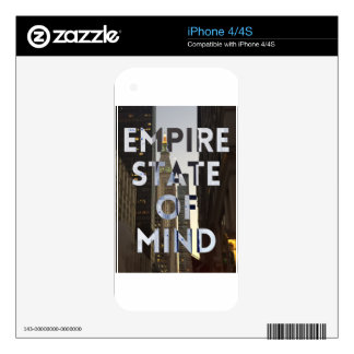 new-york-city-empire-state-of mind skin for the iPhone 4S