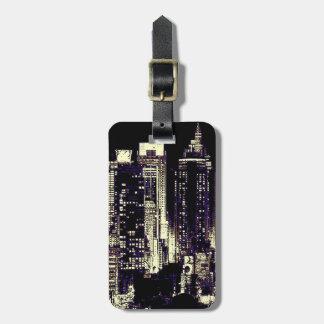 New York City en la etiqueta del equipaje de la no Etiquetas Bolsas