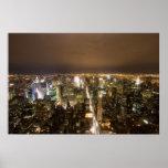 New York City en la impresión de la noche Posters