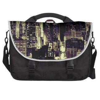 New York City en la noche Bolsas Para Portatil