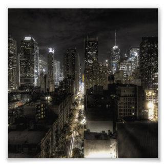 New York City en la noche HDR Fotografía