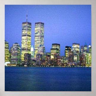 New York City en la noche Poster