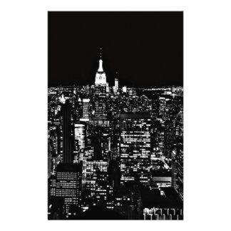 New York City en la noche Personalized Stationery
