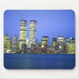 New York City en la noche Alfombrillas De Ratones