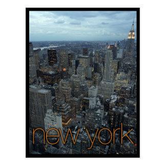 New York City en la oscuridad Tarjeta Postal