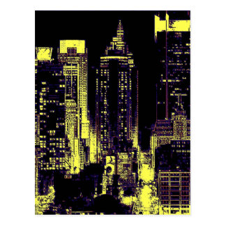 New York City en las postales de la noche