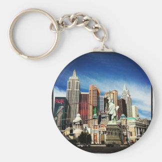 New York City en Las Vegas Llavero Redondo Tipo Pin