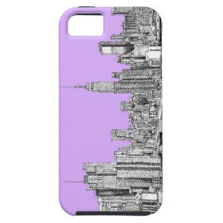 New York City en rosa de la lila iPhone 5 Case-Mate Cárcasas