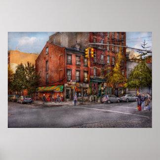 New York City - esquina de una manera y de esta ma Impresiones
