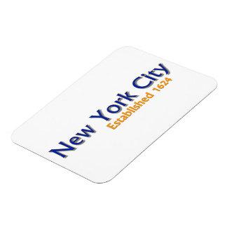 "New York City Established 3""x4"" Flexible Magnet"