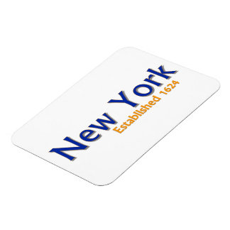 "New York (City) Established 3""x4"" Flexible Magnet"
