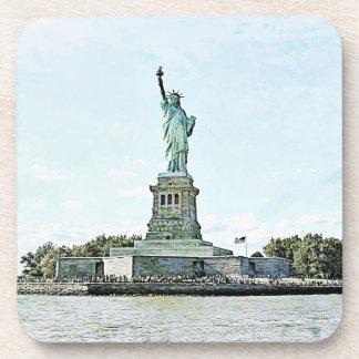 New York City - estatua de la libertad Posavasos De Bebida