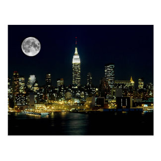 New York City estuvo en la luna Tarjetas Postales