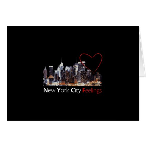 New York City Feelings Greeting Card Zazzle