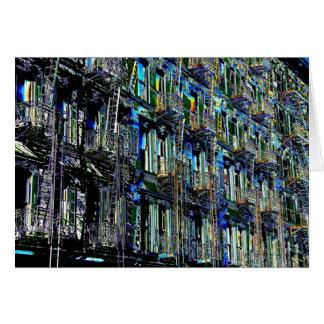 New York City Fire Escapes Pop Art, Blank Inside Card