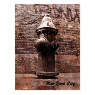 New York city fire hydrant postcard