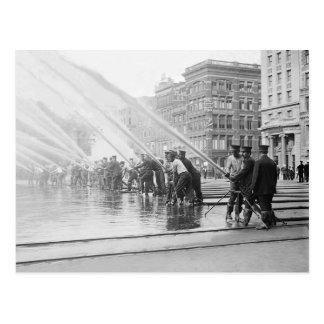 New York City Firemen 1908 Tarjetas Postales