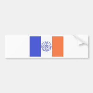 NEW YORK CITY FLAG CAR BUMPER STICKER