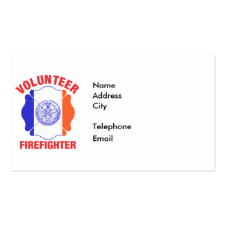 New York City Flag Volunteer Firefighter Cross Double-Sided Standard Business Cards (Pack Of 100)