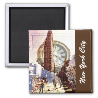 New York City Flat Iron Building 2 Inch Square Magnet