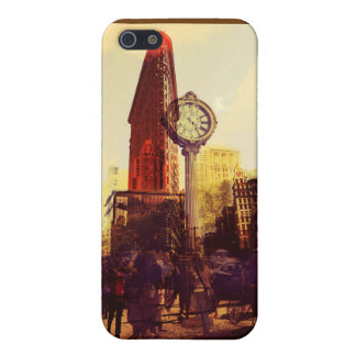 New york City flatiron building and clock Case For iPhone SE/5/5s