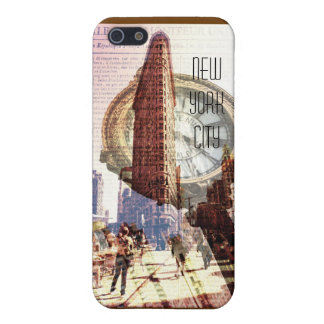 New york City flatiron building and clock iPhone SE/5/5s Case