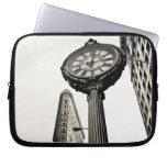 New York City - Flatiron Building and Clock Laptop Sleeves