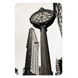 New York City - Flatiron Building and Clock Magnet