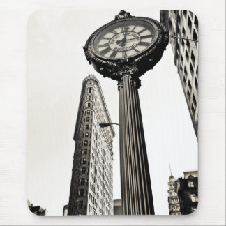 New York City - Flatiron Building and Clock Mouse Pad