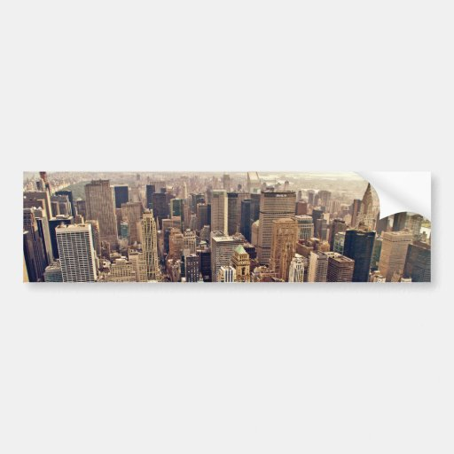 New York City From Above Bumper Sticker